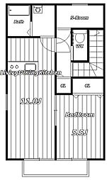 アムールプティII[2階]の外観