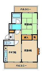 ナインマンションパート1[2階]の間取り