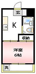 エディフィシオ橋本[1階]の間取り