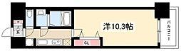 プレサンス丸の内リラティ 13階1Kの間取り