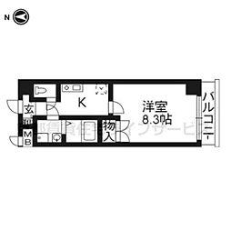 ラナップスクエア京都駅西504号室[5階]の間取り