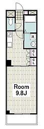BROOKSTONE横濱 2階1DKの間取り
