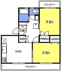 原田マンション[306号室号室]の間取り