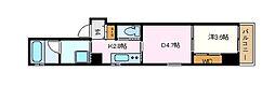 名古屋市営名城線 矢場町駅 徒歩3分の賃貸マンション 2階1DKの間取り