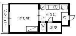 マンションA&R[1階]の間取り