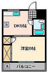 第5タカサハイム[2階]の間取り