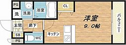 MIO玉造[2階]の間取り