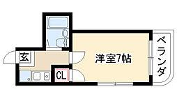 愛知県名古屋市緑区徳重2丁目の賃貸マンションの間取り