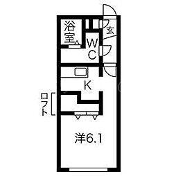S−FORT学園前[2階]の間取り