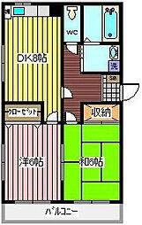 埼玉県川口市上青木西4丁目の賃貸マンションの間取り