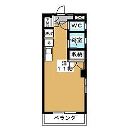 東山ロイヤルハイツ[3階]の間取り