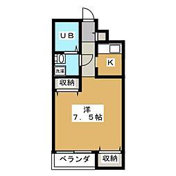 ルシールカビーナ[3階]の間取り