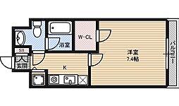 おおさか東線 JR野江駅 徒歩7分の賃貸マンション 8階1Kの間取り