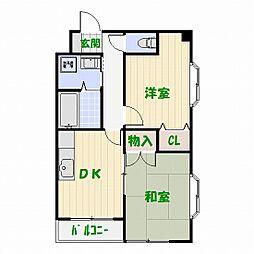 リーブル東和[2階]の間取り