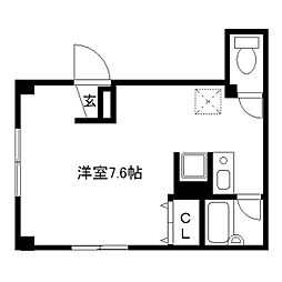 Yu-House[302号室]の間取り