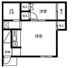 埼玉県さいたま市大宮区下町1丁目の賃貸アパートの間取り