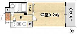 JR山陽本線 岡山駅 徒歩17分の賃貸マンション 7階1Kの間取り