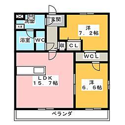 ソレイユII[3階]の間取り