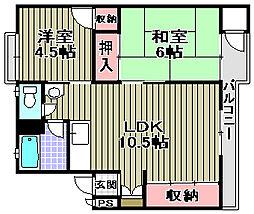 和泉グリーンコーポ[3階]の間取り