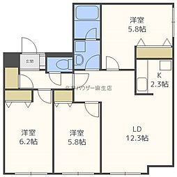 アヴァニール4・3[3階]の間取り