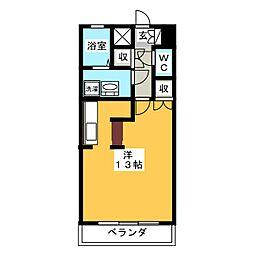 パセール青柳[4階]の間取り