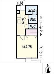 野田ハイツ[1階]の間取り