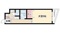 愛知県名古屋市守山区廿軒家の賃貸マンションの間取り