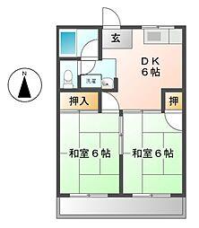 愛知県名古屋市熱田区千年1丁目の賃貸マンションの間取り