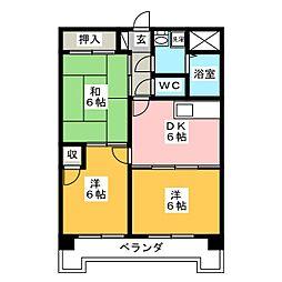 Scudetto Matsubara[2階]の間取り
