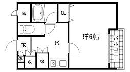 青木マンション[301号室]の間取り