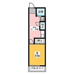 神山パークハイム[3階]の間取り