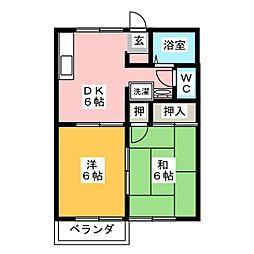 レイクサイドO.S[1階]の間取り