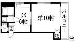 兵庫県川西市向陽台2丁目の賃貸マンションの間取り