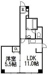 北海道札幌市中央区大通西15丁目の賃貸マンションの間取り