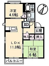 リーベンステージII[1階]の間取り