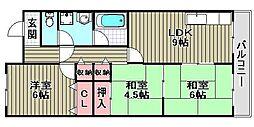 ナカタニMX23[B12号室]の間取り