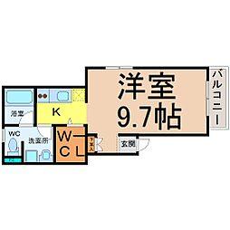 フラット矢田南[4階]の間取り