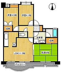 インシュランスビル9[6階]の間取り