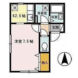 セジュール桜ヶ丘[2階]の間取り