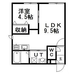 LUCERoute12[2階]の間取り