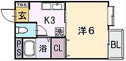 セントラルハイツIII[2階]の間取り