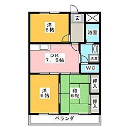藤ハウス辻畑[1階]の間取り