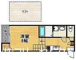 西鉄天神大牟田線 井尻駅 徒歩8分の賃貸アパート 1階2Kの間取り