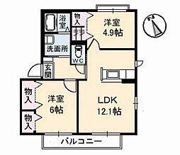コンフォートヴィラ[1階]の間取り
