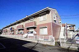埼玉県川越市大字木野目字新田の賃貸アパートの外観