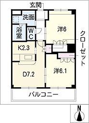 エタニティープレステージ[2階]の間取り