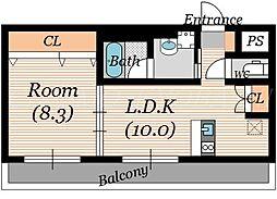 ララプレイス ザ・京橋ステラ[5階]の間取り