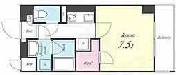 アイボリー 5階1Kの間取り