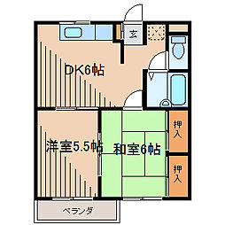 東京都町田市森野6丁目の賃貸マンションの間取り