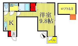 千葉県松戸市日暮の賃貸アパートの間取り